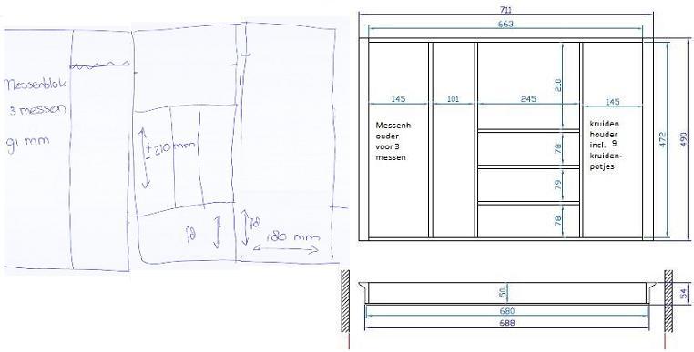 Keukens Keuken Advies Montage Inbouwapparatuur Accessoires Bestekbak Hout Op Maat Flexibel