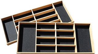 houten bestekbak met vilt bodem eiken zwart eigen ontwerp